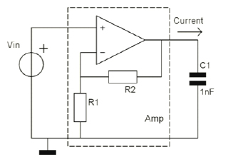 High voltage amplifier internal circuit